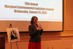 Kristen Harbeson speaks at the 2020 MDEnviroSummit