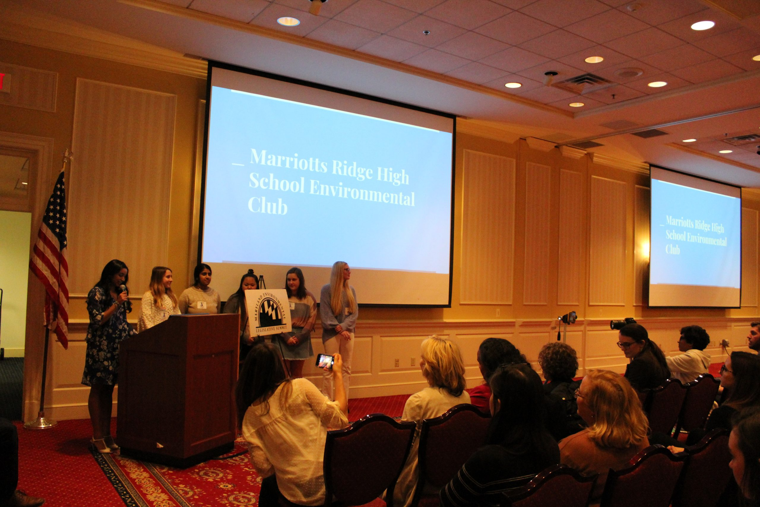 Marriotts Ridge High School Environmental Club presenting