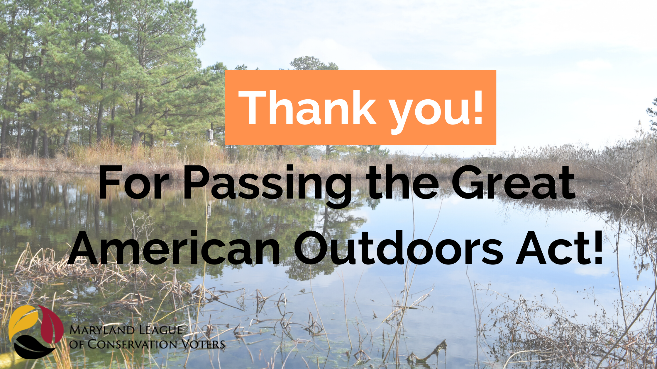 Thank you for passing the Great American Outdoors Act